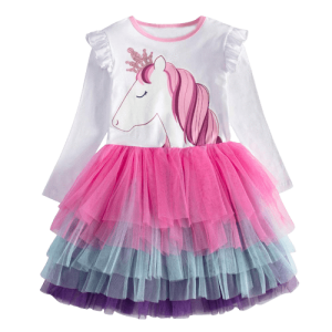 dress unicorn princess sleeves long 7 8 years disguise unicorn