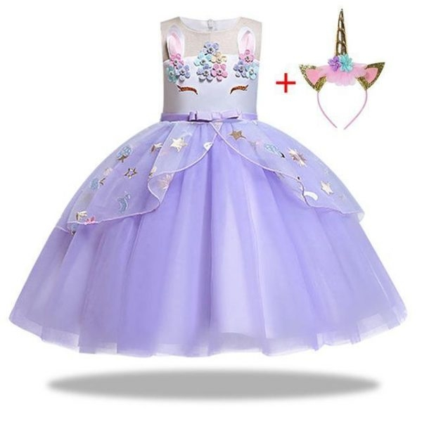 dress unicorn violet girl 10 years 155cm disguise unicorn