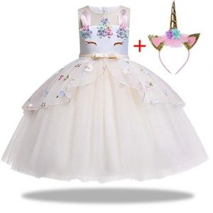 dress unicorn white girl 10 years 155cm disguise unicorn