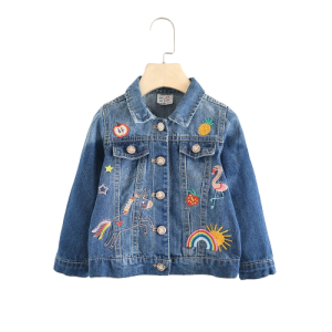 jacket in jeans blue child unicorn kawaii blue dark 11 years old 130cm unicorn stuffed animals
