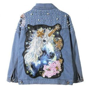 jacket women unicorn blue xl