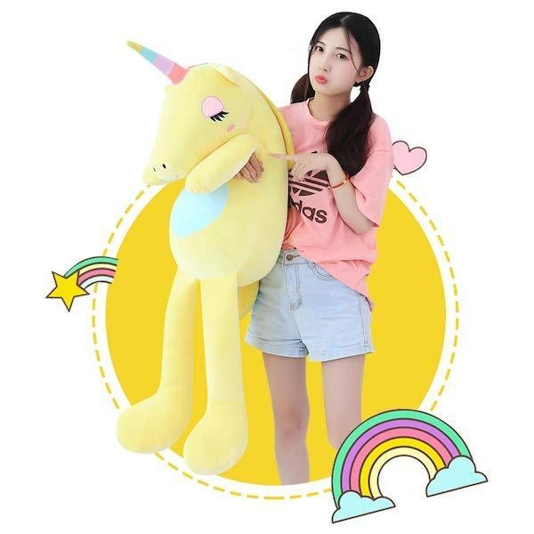 large plush unicorn 110cm blue price