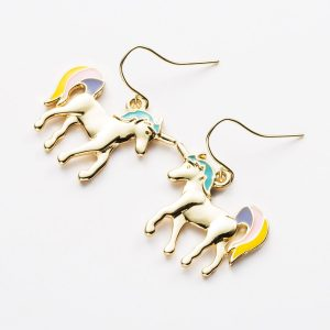 loops ears unicorn gold loops ears unicorn