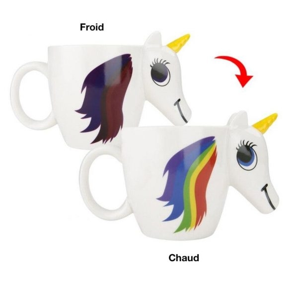 mug unicorn thermosensitive exchange of color office and salon