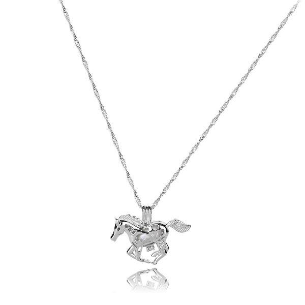 necklace unicorn at gallop emerald at sell