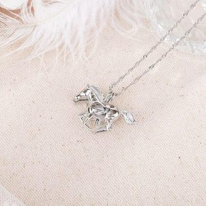 necklace unicorn at gallop emerald buy