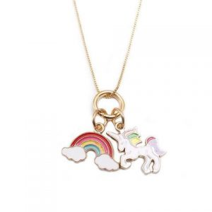 necklace unicorn bow in sky not dear