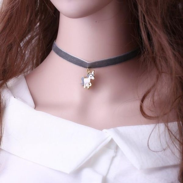 necklace unicorn elegant brown price