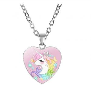 necklace unicorn girl bow in sky not dear