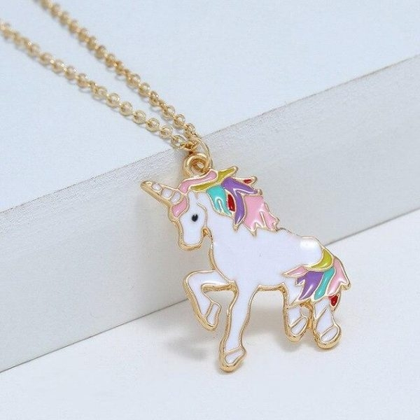 necklace unicorn golden objects unicorn at price minis