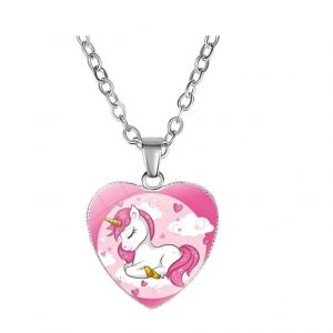 necklace unicorn heart romantic price