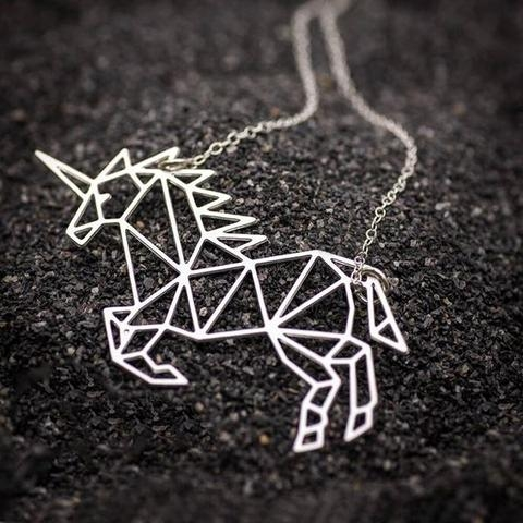 necklace unicorn jewelry origami money buy