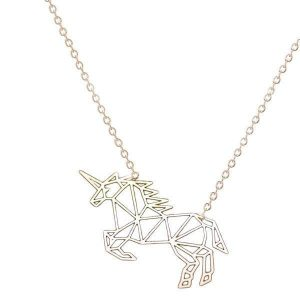 necklace unicorn jewelry origami money necklace unicorn