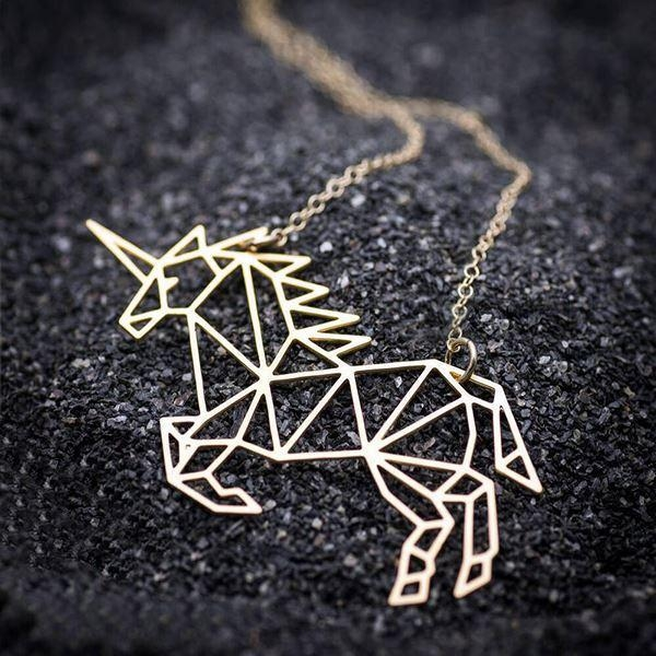 necklace unicorn jewelry origami money not dear