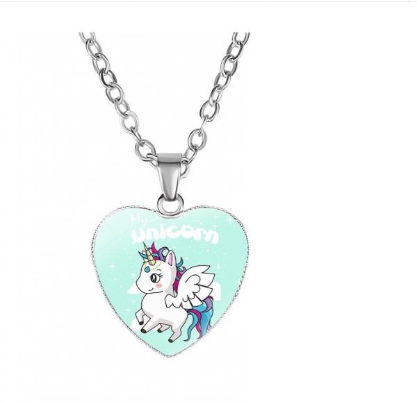 necklace unicorn kawaii green buy