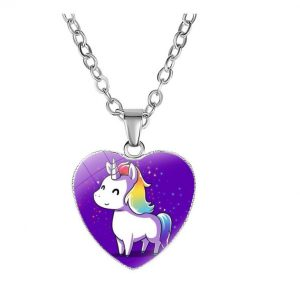 necklace unicorn kawaii purple buy