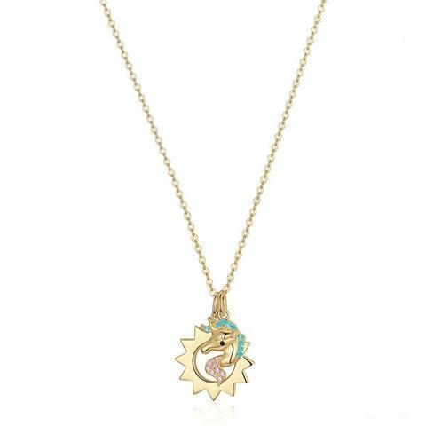 necklace unicorn sun in money at sell