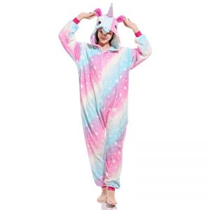 onesie unicorn multicolored adult xl 180 190cm disguise unicorn