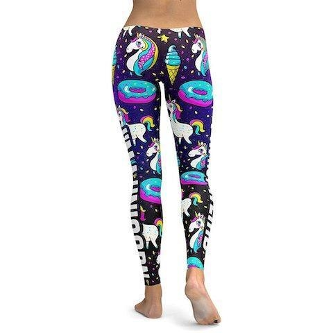 pants leggings unicorn women donut xl 46 ​​48 price