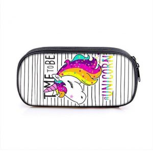 pencil case unicorn 3 compartments not dear