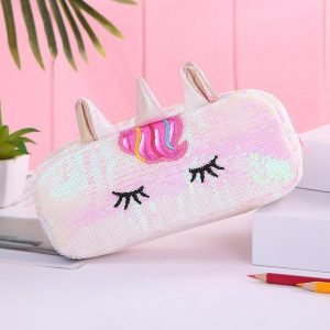 pencil case unicorn at glitter