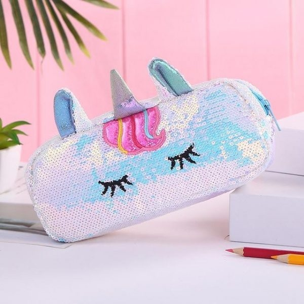 pencil case unicorn blue price