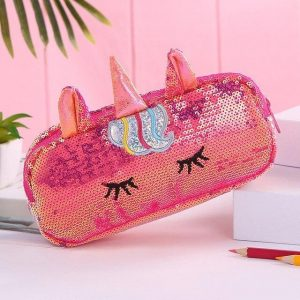 pencil case unicorn red not dear