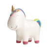 piggy bank pig unicorn multicolored girl at sell