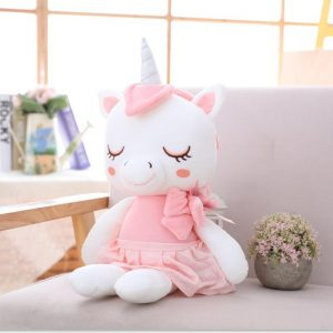 plush doll unicorn 45cm pink at sell