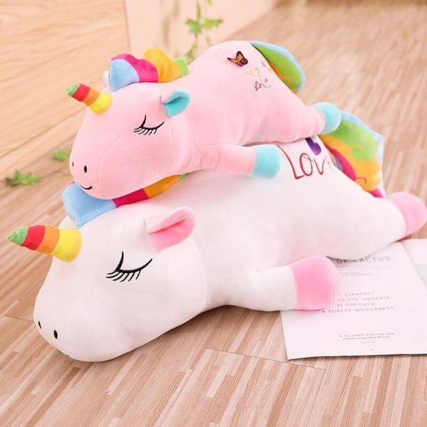 plush unicorn bow in sky 85cm unicorn stuffed animals