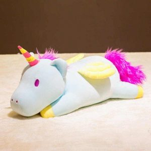 plush unicorn giant blue 90cm