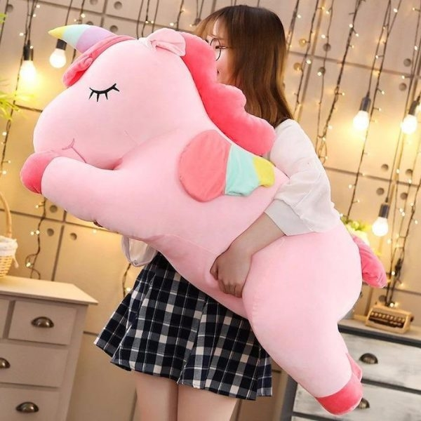 plush unicorn giant pink 80cm buy