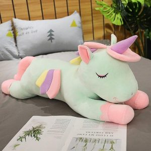 plush unicorn green 100cm green unicorn stuffed animals
