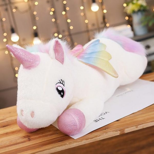 plush unicorn small girl 100cm fluff unicorn