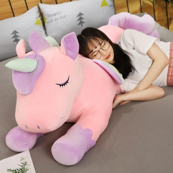 plush unicorn xl 100cm pink fluff unicorn