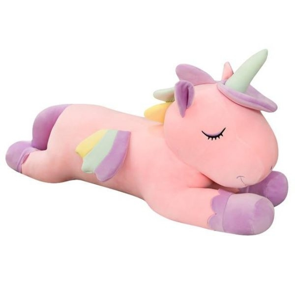 plush unicorn xl 100cm pink unicorn stuffed animals