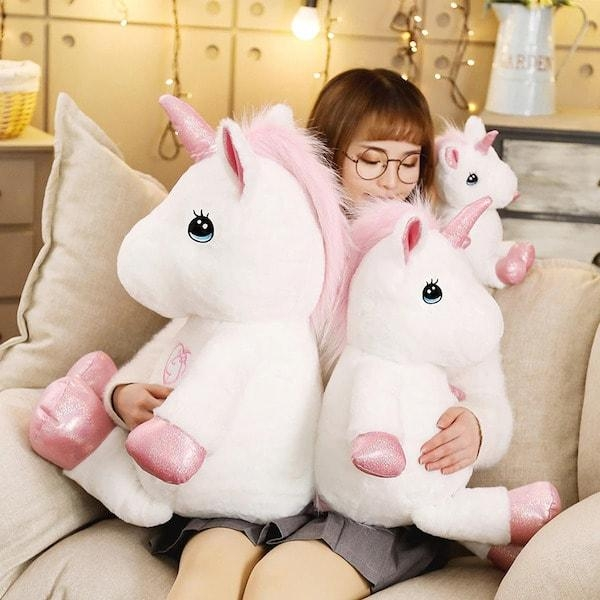 plush unicorn xxl 80 cm fluff unicorn