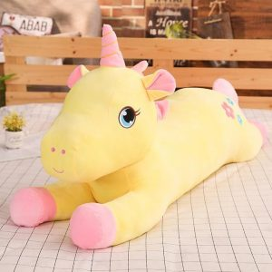 plush unicorn yellow 130cm buy