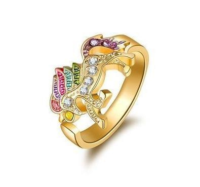 ring unicorn golden girl buy