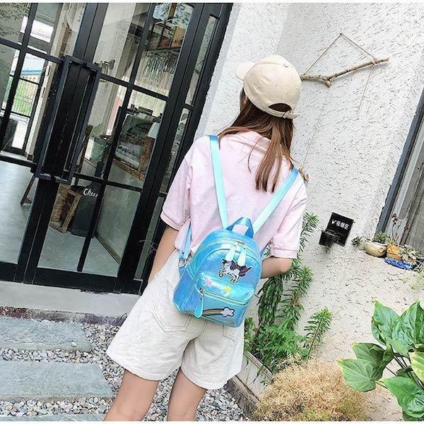 school bag unicorn child cp bag at back and backpack unicorn
