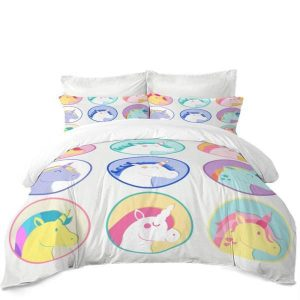 set of bed head of unicorn 220x240cm unicorn stuffed animals