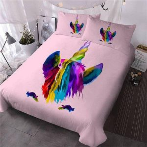 set of bed mane unicorn 220x240cm