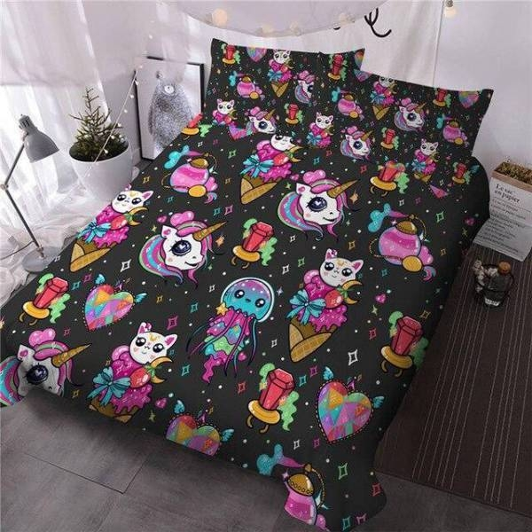 set of bed patterns unicorn 220x240cm not dear