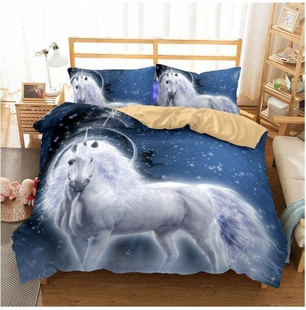 set of bed sleep unicorn 260x220cm at sell