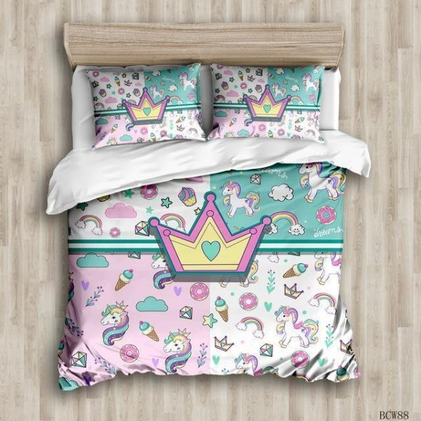 set of bed style unicorn 240x220cm at sell
