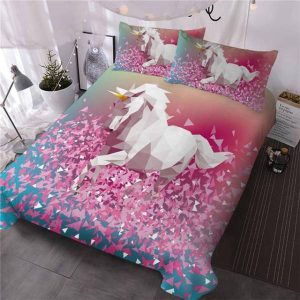 set of bed unicorn 3d 220x240cm room
