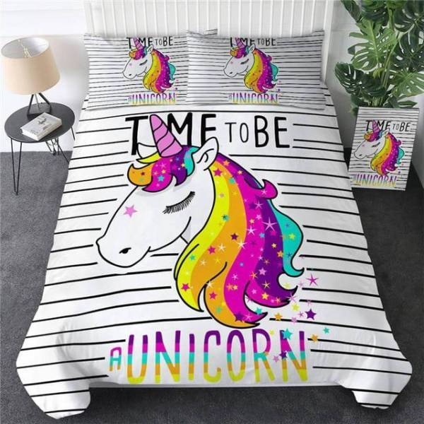 set of bed unicorn at scratches 220x240cm unicorn stuffed animals