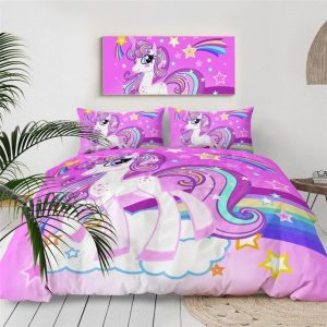 set of bed unicorn barbie 240x220cm at sell
