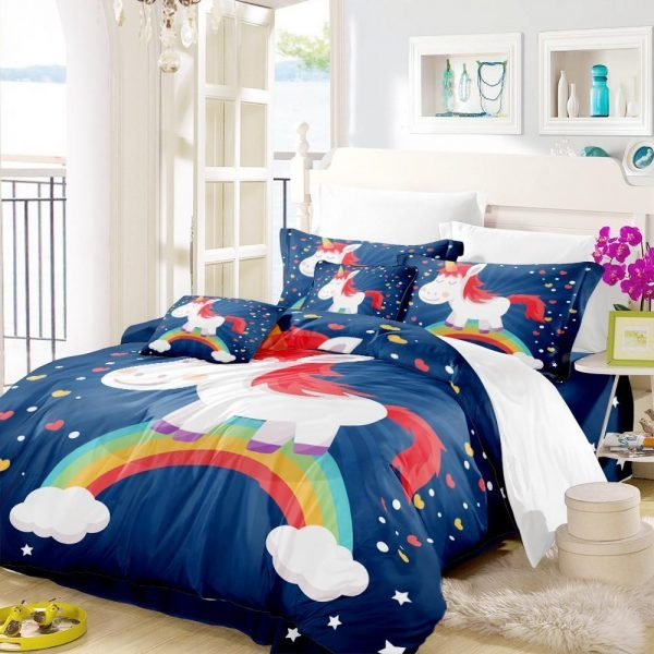 set of bed unicorn bedroom child 220x240cm price