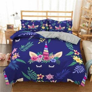 set of bed unicorn blue 220x240cm buy